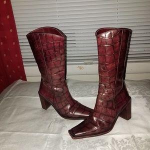 Vero Cuoio Snakeskin boots Sz 6/36